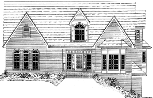 Home plan center 1 1 gables ii One and a half story house plans