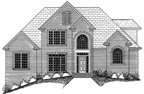 Home plan center 1 1 xavier for 1 and a half story house plans
