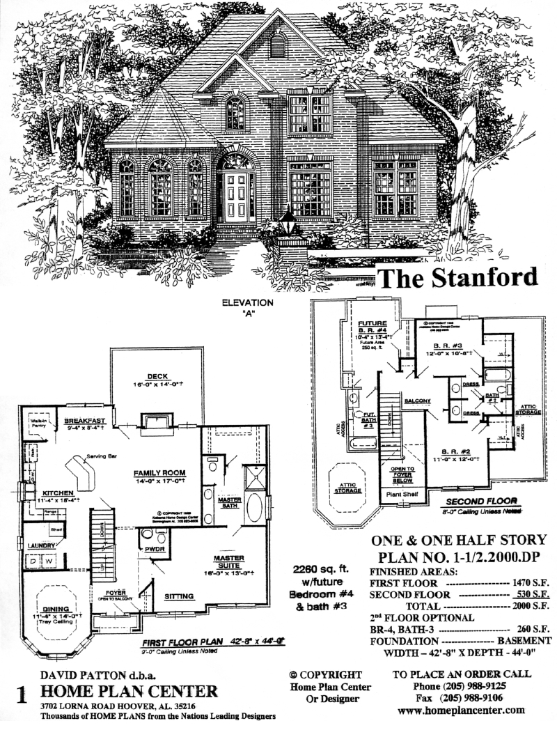 Home Plan Center 1 1 Stanford